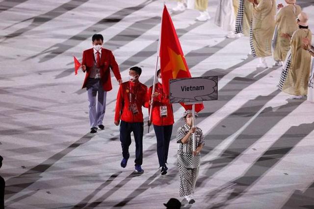Hình ảnh Đoàn thể thao Việt Nam diễu hành ở lễ khai mạc Olympic Tokyo 2020 - Ảnh 2.