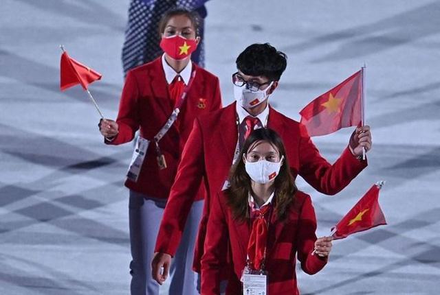 Hình ảnh Đoàn thể thao Việt Nam diễu hành ở lễ khai mạc Olympic Tokyo 2020 - Ảnh 5.