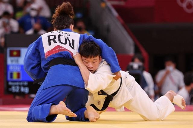 Olympic Tokyo 2020: Thanh Thủy thua chóng vánh, dừng bước ở vòng 1/32 Judo - Ảnh 1.