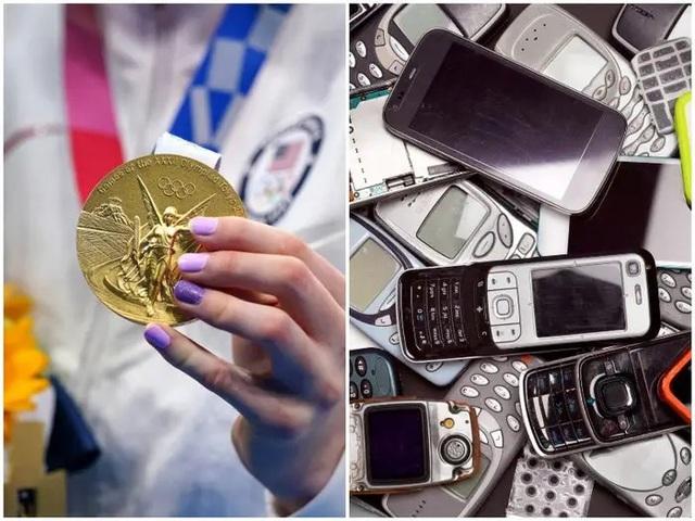 Huy chương Olympic Tokyo được tái chế từ gần 80.000 tấn đồ điện tử - Ảnh 1.