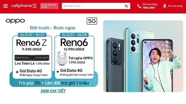 Lên đời OPPO Reno6 series giảm tận 3 triệu tại CellphoneS - Ảnh 1.