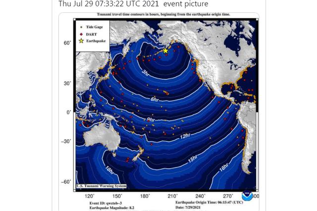 Động đất mạnh 8,2 độ trên bán đảo Alaska, Mỹ kích hoạt cảnh báo sóng thần - Ảnh 2.