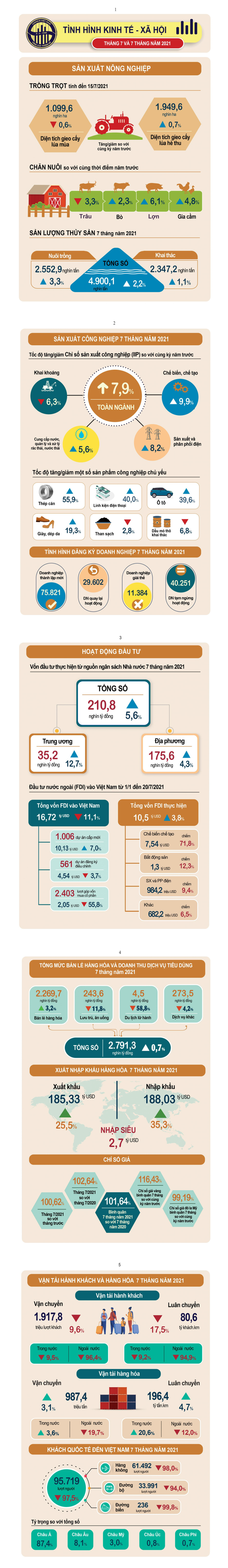 Bức tranh kinh tế Việt Nam 7 tháng đầu năm 2021 - Ảnh 1.