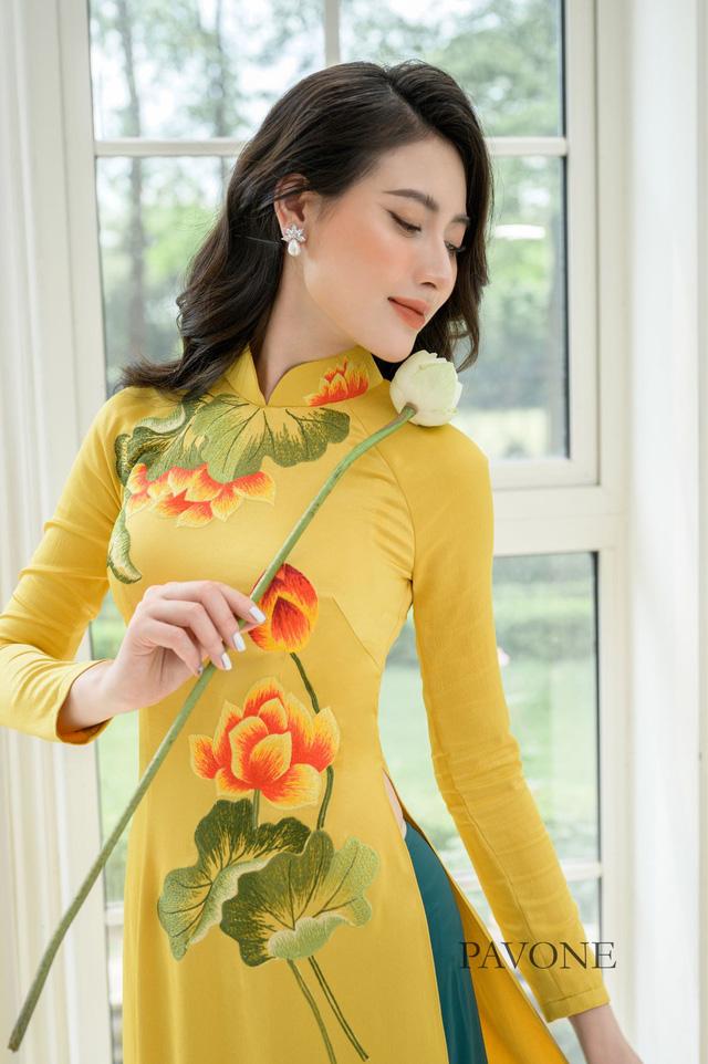 Top những mẫu áo dài Pavone được lựa chọn nhiều nhất hiện nay - Ảnh 2.