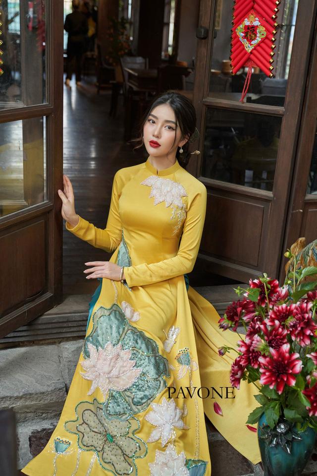 Top những mẫu áo dài Pavone được lựa chọn nhiều nhất hiện nay - Ảnh 4.