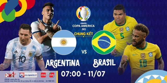 Chung kết Copa America: Brazil hay Argentina lên ngôi vương? (7h, Chủ nhật, 11/07, VTVcab) - ảnh 1