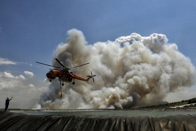 Cháy rừng bùng phát ở Hy Lạp khiến nhiều người bị thương - Ảnh 10.