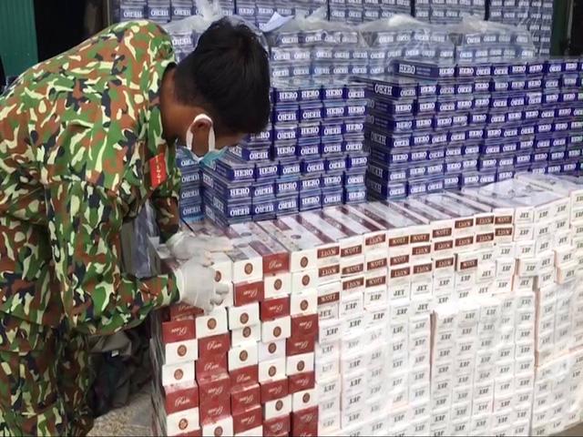 Kiên Giang: Bắt vụ buôn lậu thuốc lá rất lớn bằng đường biển từ Campuchia vào Việt Nam - ảnh 1
