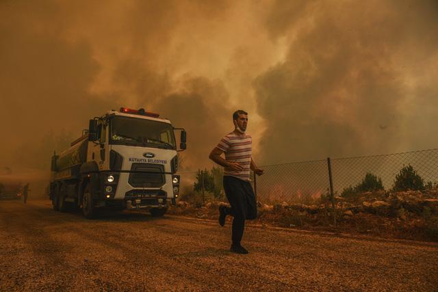 Cháy rừng ở Thổ Nhĩ Kỳ: Số nạn nhân thiệt mạng tăng lên 8 người, du khách sơ tán khẩn cấp - Ảnh 9.