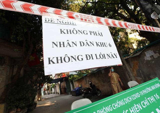 """Hà Nội: Nhiều khu dân cư thiết lập """"vùng xanh"""" chống lây COVID-19 từ bên ngoài - Ảnh 2."""