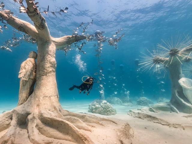 Độc đáo triển lãm nghệ thuật dưới nước tại đảo Cyprus - ảnh 2