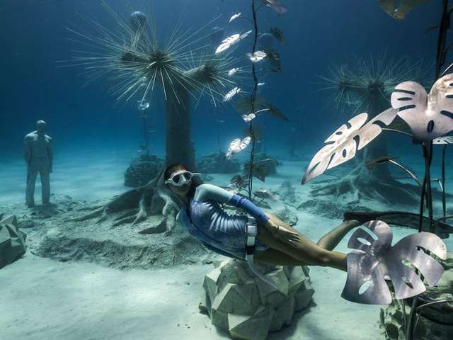 Độc đáo triển lãm nghệ thuật dưới nước tại đảo Cyprus - ảnh 6