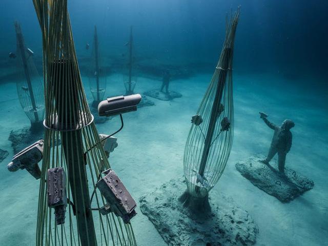 Độc đáo triển lãm nghệ thuật dưới nước tại đảo Cyprus - ảnh 3