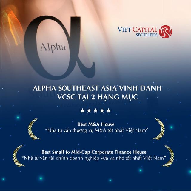 VCSC nhận thưởng kép tại giải Alpha Southeast Asia - Ảnh 1.