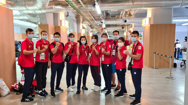 Đoàn thể thao Việt Nam về nước sau hành trình tại Olympic Tokyo 2020 - Ảnh 1.