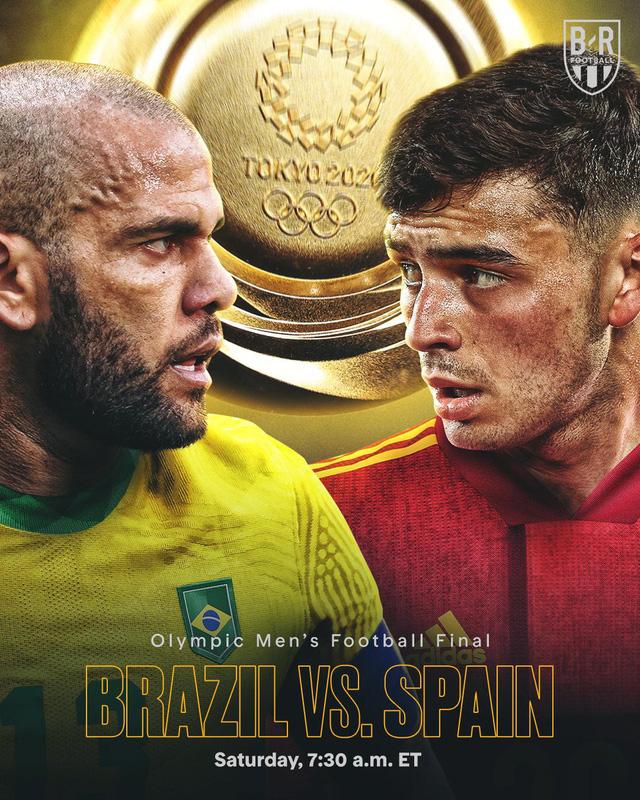Lịch thi đấu chung kết bóng đá nam Olympic Tokyo 2020: Brazil – Tây Ban Nha, Mexico tranh huy chương đồng với Nhật Bản - Ảnh 1.