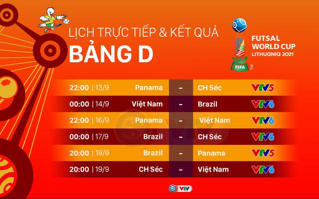 Lịch thi đấu và trực tiếp FIFA Futsal World Cup Lithuania 2021™ hôm nay | ĐT futsal Việt Nam đối đầu Brazil - Ảnh 3.