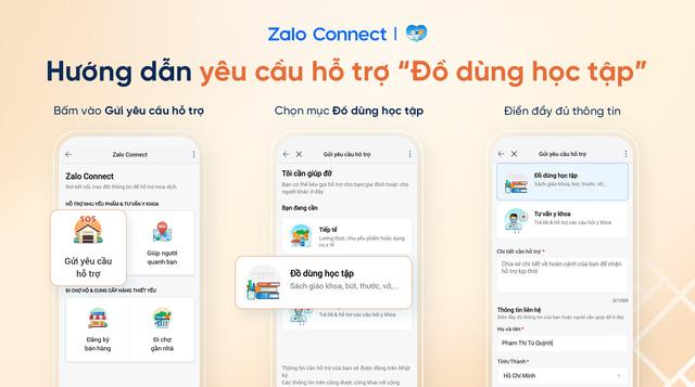 Hỗ trợ đồ dùng học tập cho học sinh hoàn cảnh khó khăn qua Zalo Connect - Ảnh 1.