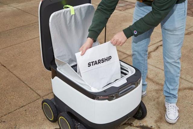 Robot giao hàng tự động tại Anh - Ảnh 1.