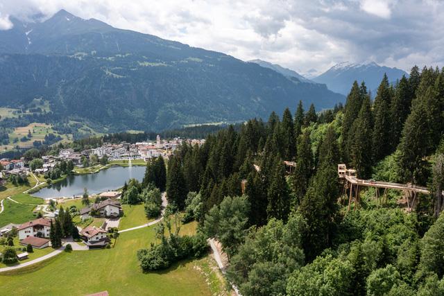 """Khám phá con đường """"trên cây"""" dài nhất thế giới tại Thụy Sĩ - Ảnh 1."""
