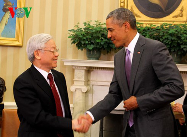 President Obama welcomed the US official visit by Party General Secretary Nguyen Phu Trong