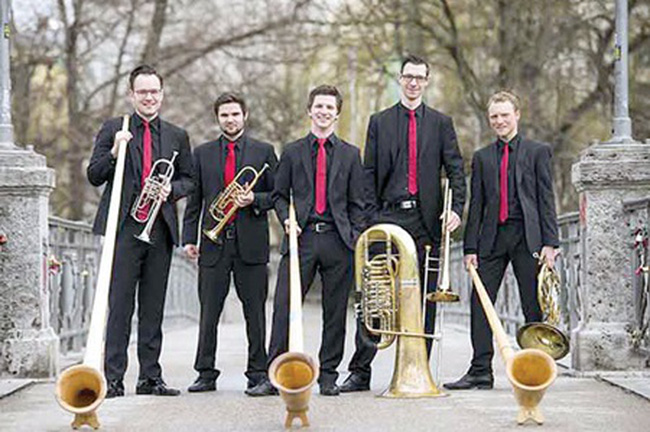 Instrumental: The Red Socks brass quintet from Germany will perform in Ha Noi and HCM City as part of Europe Days 2015. — Photo redsocksbrass.de