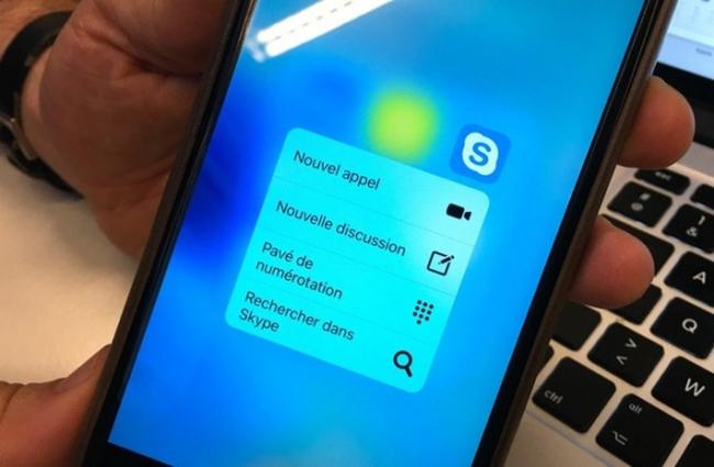 Skype đã hỗ trợ 3D Touch trên iPhone 6S và iPhone 6S Plus
