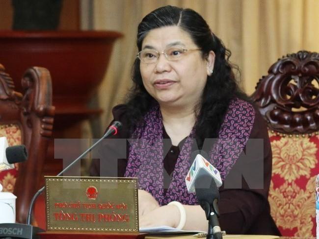 National Assembly Vice Chairwoman Tong Thi Phong