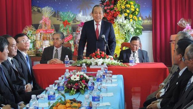 Deputy Prime Minister Truong Hoa Binh is speaking (Source: VNA)