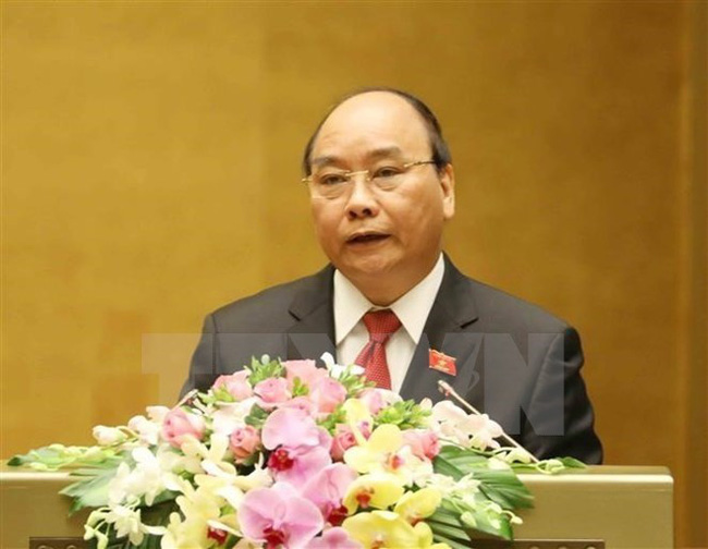 Prime Minister Nguyen Xuan Phuc addresses the fourth session of the 14th National Assembly (Photo: VNA)