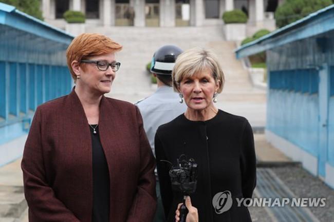 Các bộ trưởng Australia thăm biên giới liên Triều - ảnh 1