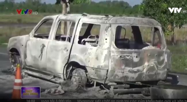 Khởi tố vụ án liên quan đến vụ ô tô bị cháy trên QL61C - ảnh 1