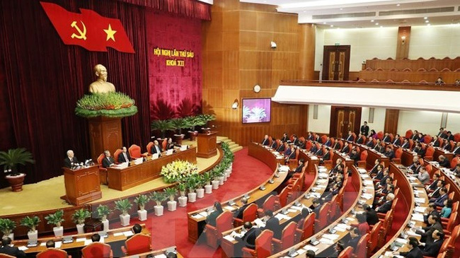 A view of the ongoing sixth session of the 12th Party Central Committee (Photo: VNA)