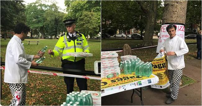 Tặng pizza miễn phí cho cảnh sát sau vụ nổ tàu điện ngầm ở London, Anh - ảnh 1