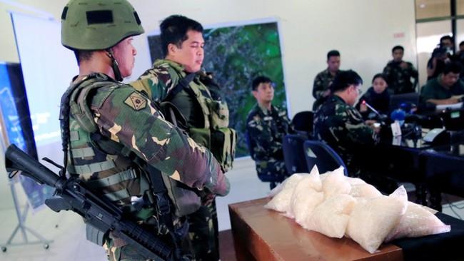 Quân đội Philippines thu giữ lượng lớn ma túy ở Marawi - ảnh 1