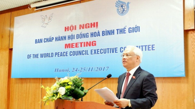 NA Vice Chairman Uong Chu Luu speaks at the WPC meeting in Hanoi on November 24. (Credit: thoidai.com.vn)