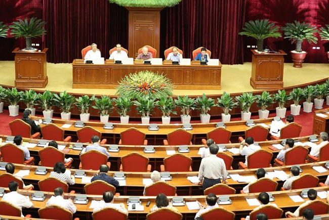 A view of the discussion on social insurance policy reform on May 10 (Photo: VNA)