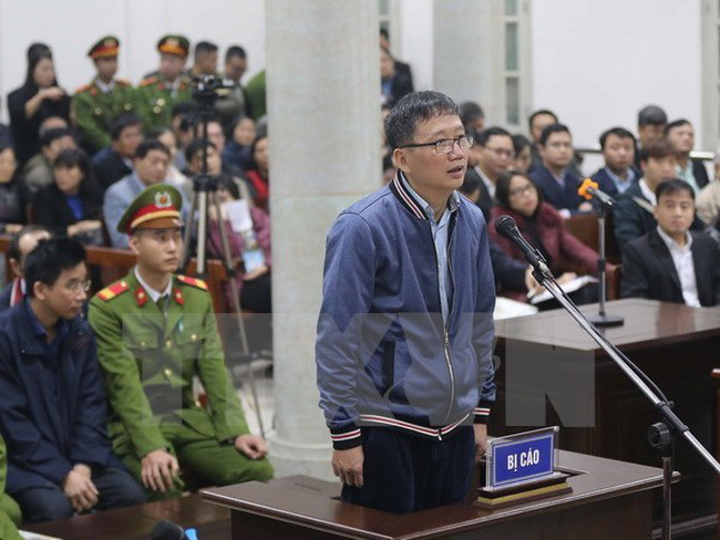 Trinh Xuan Thanh at the first instance trial on January 8. (Source: VNA)