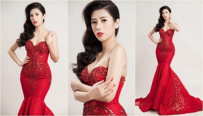 Á khôi Dương Yến Nhung diện đầm đỏ khoe vẻ gợi cảm trong bộ ảnh mới - ảnh 7