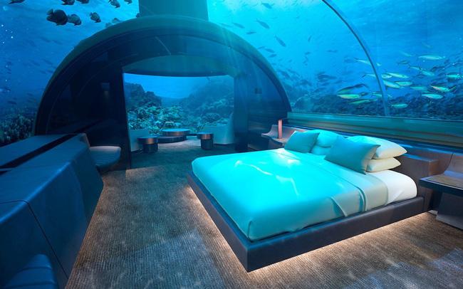Choáng hợp với biệt thự dưới đáy biển đầu tiên tại Maldives - ảnh 6