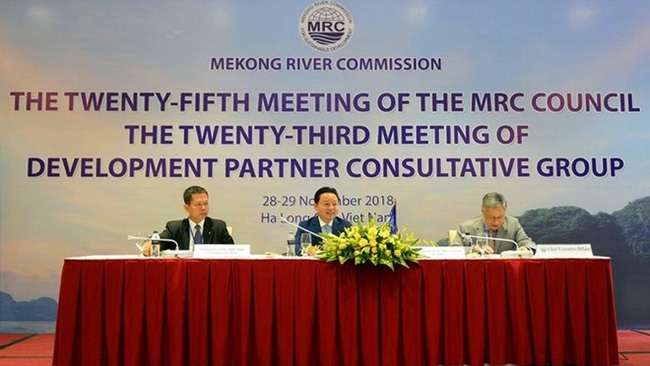 At the 25th meeting of the Mekong River Commission (MRC) Council in Ha Long (Photo: VNA)