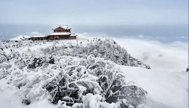 Những vùng núi băng tuyết tuyệt đẹp tại Trung Quốc - ảnh 1