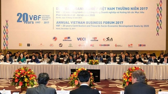 Vietnam Business Forum 2017 (Photo: Bao Quoc te)