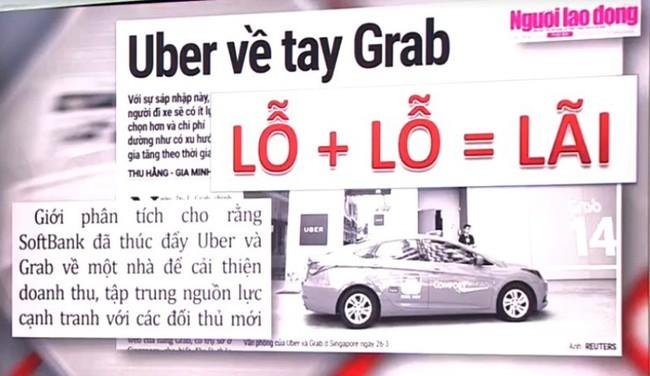 Uber về tay Grab