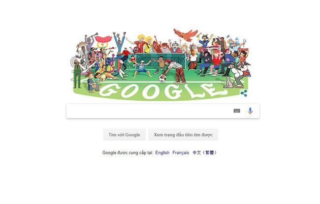 Hưởng ứng World Cup 2018, Google thay ảnh đại diện công cụ tìm kiếm - ảnh 2