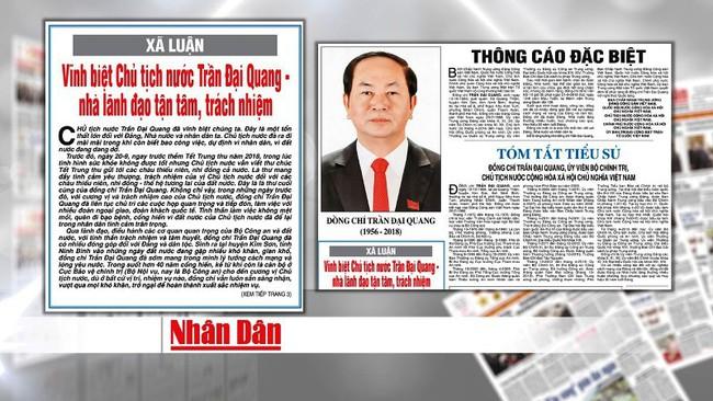 Image result for Cáo Phó Chủ tịch nước Trần Đại Quang từ trần