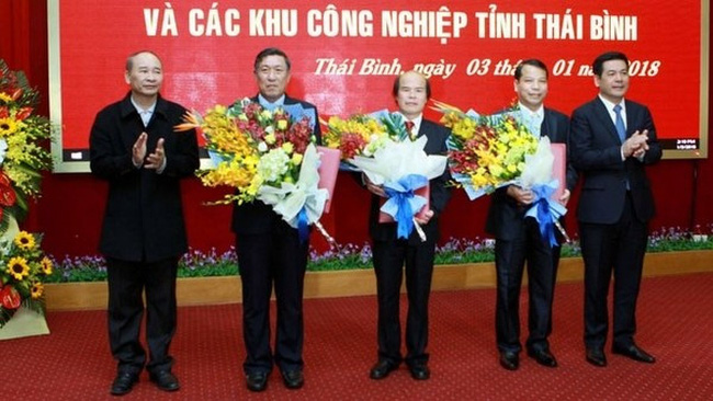 The newly established management board for economic zone and industrial parks of Thai Binh province (Photo: nhandan.com.vn)