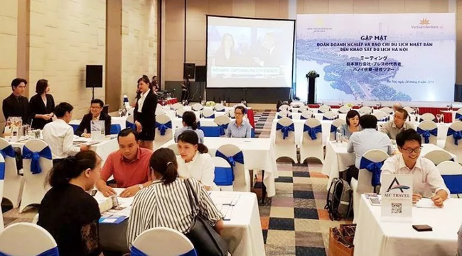 The meeting to promote Hanoi tourism to the Japanese market (Image: Kinh te do thi)