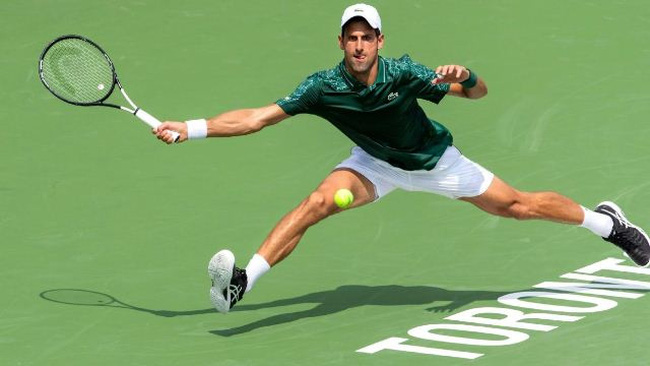 Reigning Wimbledon champion Novak Djokovic moves on Wednesday at the Rogers Cup in Toronto. (Photo: Icon Sportswire)