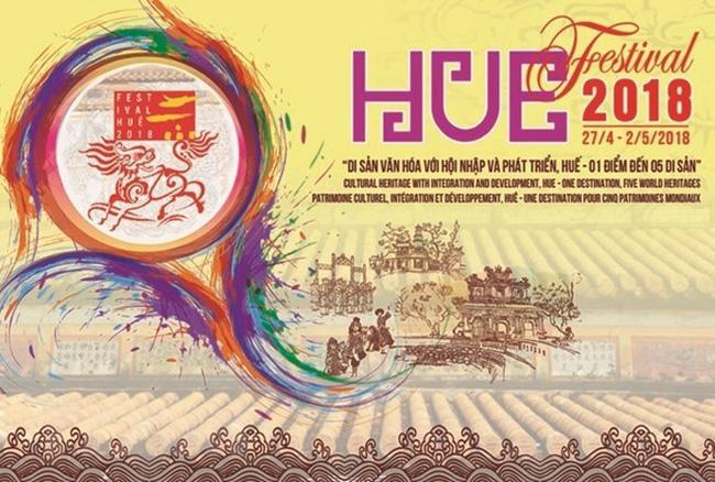 Official poster of Hue Festival 2018 (Source: VNA)